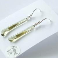 Boucles d'oreille pendantes Ag925 - Thé vert