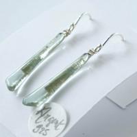Boucles d'oreille pendantes Ag925 - Lichen