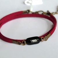Bracelet double tour - Framboise