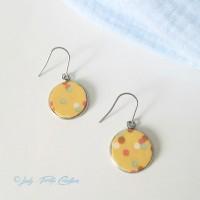 Boucles d'oreille Lizy jaune confettis sur Acier Inoxydable