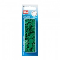 Boutons pressions color snaps, vert herbe 12,4 mm
