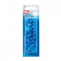 Boutons pression color snaps bleu  acier,12,4 mm