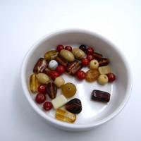 PERLES VERRE PAR 50 g (36 perles)
