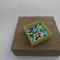 Mélange de 90 perles, nacrées, verre, acrylique, rondes, 8 à 12 mm, loisirs créatifs, fourniture bijoux