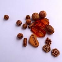 Mélange de perlesacrylique, esprit ethnique, résine façon ambre, mélange unique, loisirs créatifs