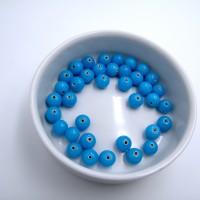 PERLES VERRE 10 MM BLEUES PAR 50 g (37 perles)
