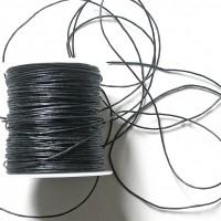 1 mètre de cordon coton tressé 1 mm noir