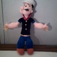 Peluche Popeye avec ventouse secondemain