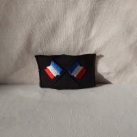 Ecusson broderie drapeau de France à coudre pour customisé