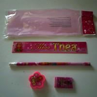 Set  de papeterie rose  Miss Théa pour enfant règle crayon à papier taille crayon , loisirs créatif