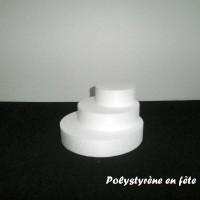Petite pyramide ronde en polystyrène -  pour  bonbons,chocolats ...Noël,fêtes