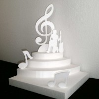 Présentoir thème musique en polystyrène pour dragée,bonbons,verrines , mariage,baptême,anniversaire