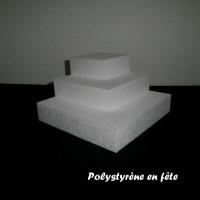Petite pyramide carrée en polystyrène -  pour  bonbons,chocolats ...Noël,fêtes