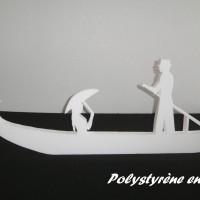 Gondole , grand décor en polystyrène 96 cm de long pour déco vitrine ou mariage thème Venise ,carnaval