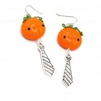 Boucles d'oreilles citrouilles Halloween en pâte polymer / Earrings Halloween pumpkins polymer clay