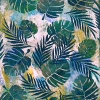 Tableau tendance feuilles de palme monstera tropical