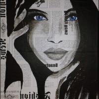 Tableau visage femme portrait moderne