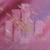 Tableau abstrait relief contemporain moderne