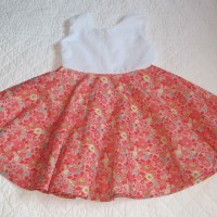 robe qui tourne dos nu coton et jupe Liberty exclusif