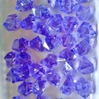 Sachet de 40 Gros acrylique cristaux Violet de glace pour décoration