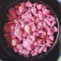 Sachet 100g de pépites non percées colorées Accessoires de décoration - Pierres Pépites - Rose oeillet
