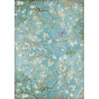 1 feuille de papier de riz 21 x 29.7 cm découpage collage STAMPERIA ATELIER DES ARTS 4546