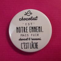Badge le chocolat