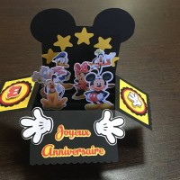 Carte pop up Mickey Mouse