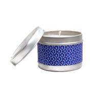 Bougie Parfumée Parfum au Choix 100 gr pour 25 Heures Vague Seigeiha Bleu  Parfum Ambiance Maison Bougie Naturelle Artisanale Vegan aromathérapie