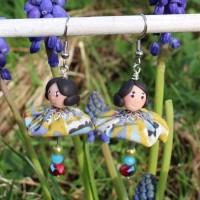 Boucles d'oreilles demoiselle Olive