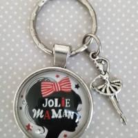 Porte-clés jolie maman