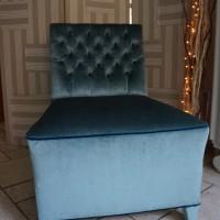 Chauffeuse Velours Bleu