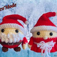 Boules de Noël - Couple Monsieur et Madame Noël