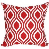Housse coussin blanc et rouge 40 x 40 cm motif Nicole