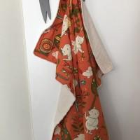 plaid - couverture  voiture bébé orange MODA collection mind your p s and q s by keiki