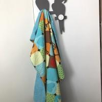 plaid - couverture  voiture bébé turquoise collection little one Sunshine