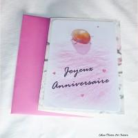Carte double Anniversaire Coccinelle et pétale de rose  10x15cm de Céline Photos Art Nature
