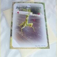 Carte double anniversaire Coquine Mante religieuse de Céline Photos Art Nature