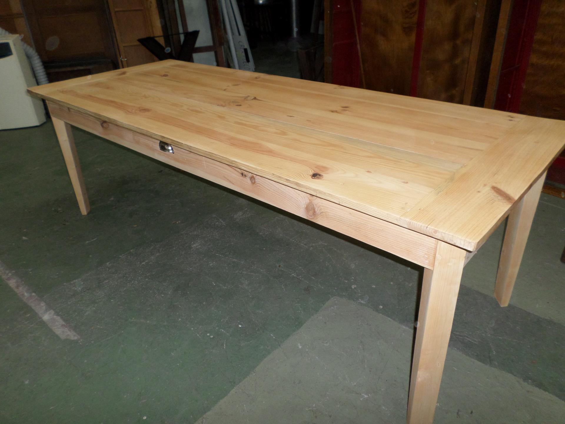 grand table de ferme en sapin massif