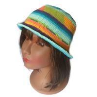 Chapeau crochet, chapeau été, chapeau cloche, chapeau wayuu, chapeau ethnique, chapeau hippie chic, chapeau original, cadeau femme,