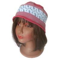 Chapeau cloche femme, hippie chic, bohème chic, style ethnique wayuu vegan rose bleu