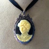 pendentif  broch camée lady Diana