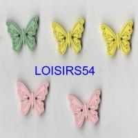 Boutons papillons bois de 20 mm pour la couture lot de 5 pièces