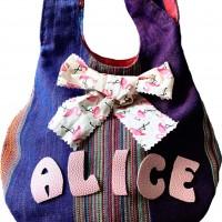 Joli sac original personnalisé en wax : cadeau fille