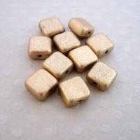 Lot de 10 perles carrés 6 mm M. Met. Flax