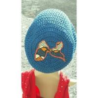 Bonnet au crochet coton coloris aux choix