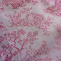 Tissu ancien impressions toile de Jouy pour créations et patchwork