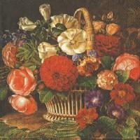 1 Serviette en papier Roses - Fleurs -  Shabby - Ref 1230