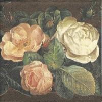 1 Serviette en papier Roses - Fleurs -  Shabby - Ref 1228