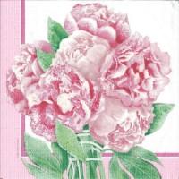 1 Serviette en papier Fleur - Pivoines - Ref 1231